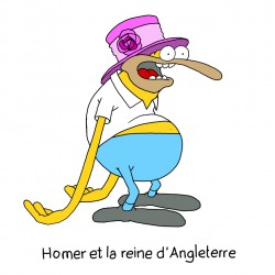 MARIE-CHRIS / Homer and the Queen