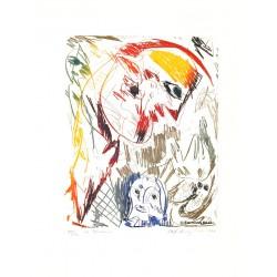 La gardienne - Gravure de Carl-Henning Pedersen