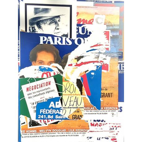 RUE VIEILLE DU TEMPLE (ARAGON) de Jacques Villeglé