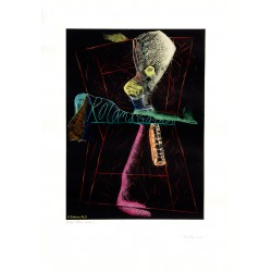 Roland Garros III gravure originale de Hervé Télémaque