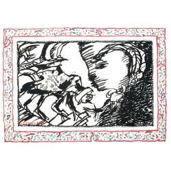 Sans l'écorce G gravure originale de Pierre Alechinsky