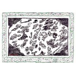 Sans l'écorce F gravure originale de Pierre Alechinsky