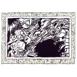 Sans l'écorce E gravure originale de Pierre Alechinsky