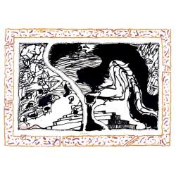 Sans l'écorce C gravure originale de Pierre Alechinsky