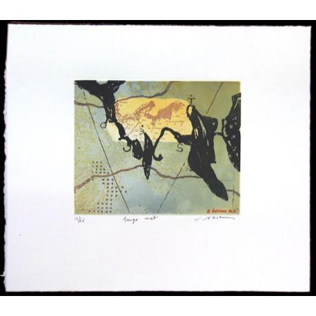 Bango ouest gravure originale de Richard Texier