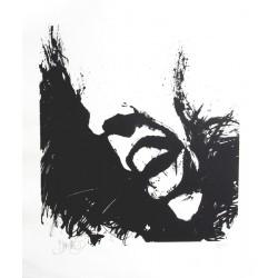 Hommage à Jacques Brel lithographie de Jean-Pierre Blanchard