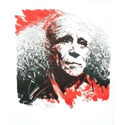 À Léo Ferré lithographie de Jean-Pierre Blanchard
