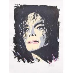 À Michaël Jackson lithographie de Jean-Pierre Blanchard