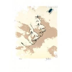 La Mouche lithographie de jean Pierre Blanchard