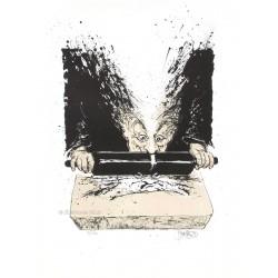 Le lithographe, lithographie de Jean-Pierre Blanchard