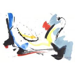 Poétique lithographie originale de Jean Miotte