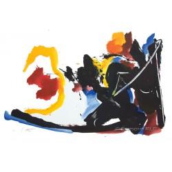 Mouvement lithographie originale de Jean Miotte