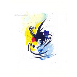Danse insolite gravure originale de Jean Miotte