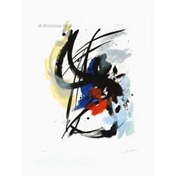 Pierre noire gravure originale de Jean Miotte