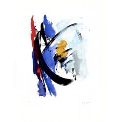Oblique marine gravure originale de Jean Miotte