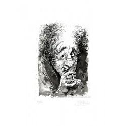 Le buveur gravure de Jean-Pierre Blanchard