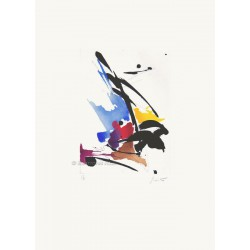 Filigrane gravure originale de Jean Miotte