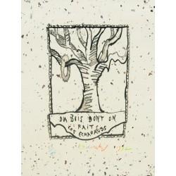 Du bois dont on fait les échafauds gravure Pierre de Alechinsky