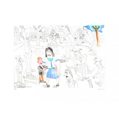 Relacíon con sentimientos gravure de Antonio Seguí