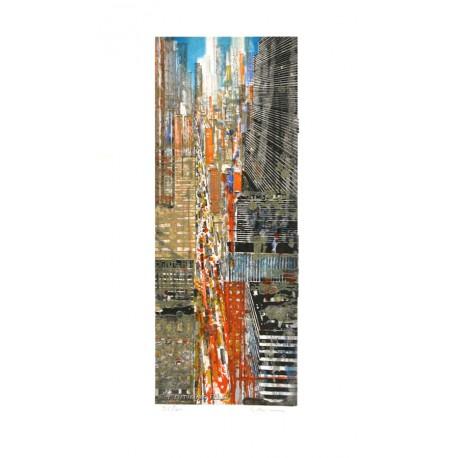 New York 5 ème avenue gravure de Gottfried Salzmann