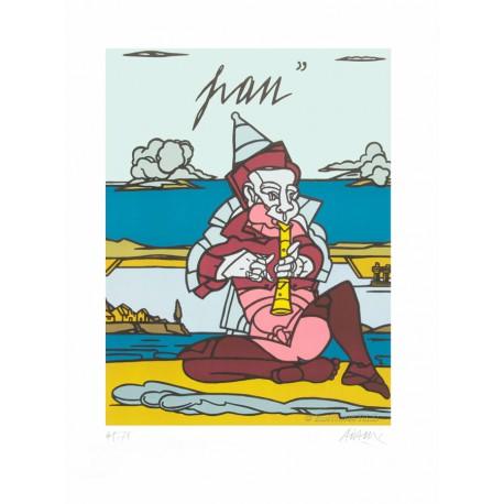 Pan lithographie de Valerio Adami