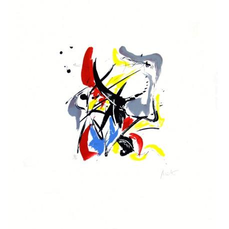 Mélopée 1 lithographie originale de Jean Miotte