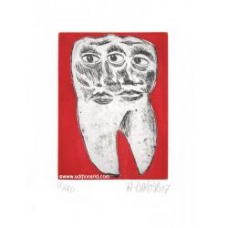 Dent N°31 gravure originale de Hervé Di Rosa