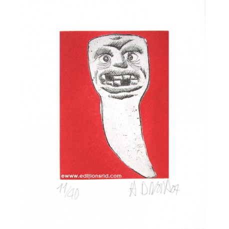 Dent N°29 gravure originale de Hervé Di Rosa