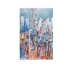 52ème rue gravure originale de Gottfried Salzmann