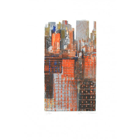 New York découpée gravure de Gottfried Salzmann