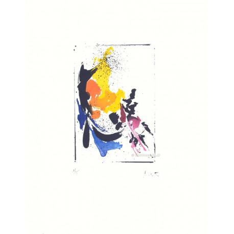 Cheval de troie gravure de Jean Miotte
