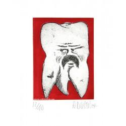 Dent N°27 gravure originale de Hervé Di Rosa