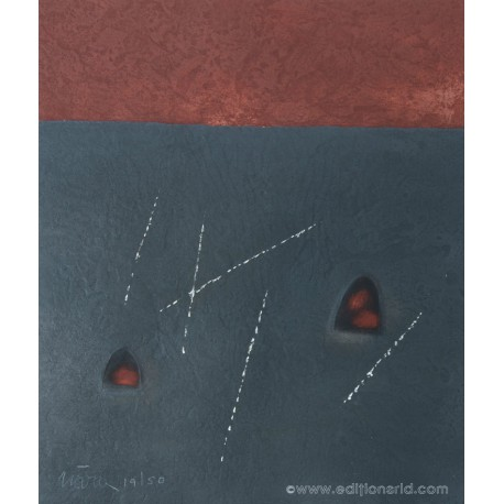 Carré noir et rouge gravure de Leopoldo Nóvoa