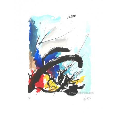 Le jeu du rêve gravure originale de Jean Miotte