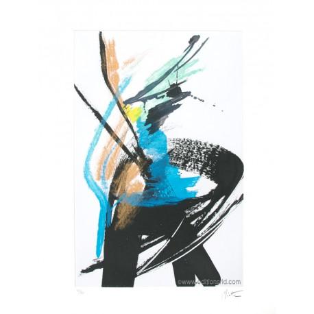 Dans le vent gravure originale de Jean Miotte