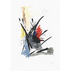L'iroquois gravure originale de Jean Miotte