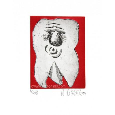 Dent N°25 gravure originale de Hervé Di Rosa