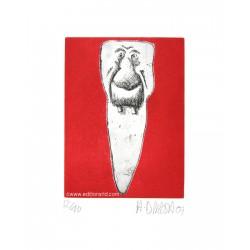 Dent N°26 gravure originale de Hervé Di Rosa