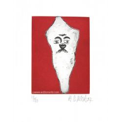 Dent N°23 gravure originale de Hervé Di Rosa