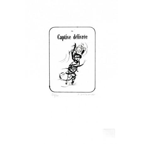 La captive délivrée lithographie de Sophie Dutertre