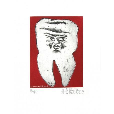 Dent N°22 gravure originale de Hervé Di Rosa